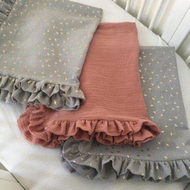 Βρεφική Κουβέρτα Μουσελίνα 70 x 90 cm